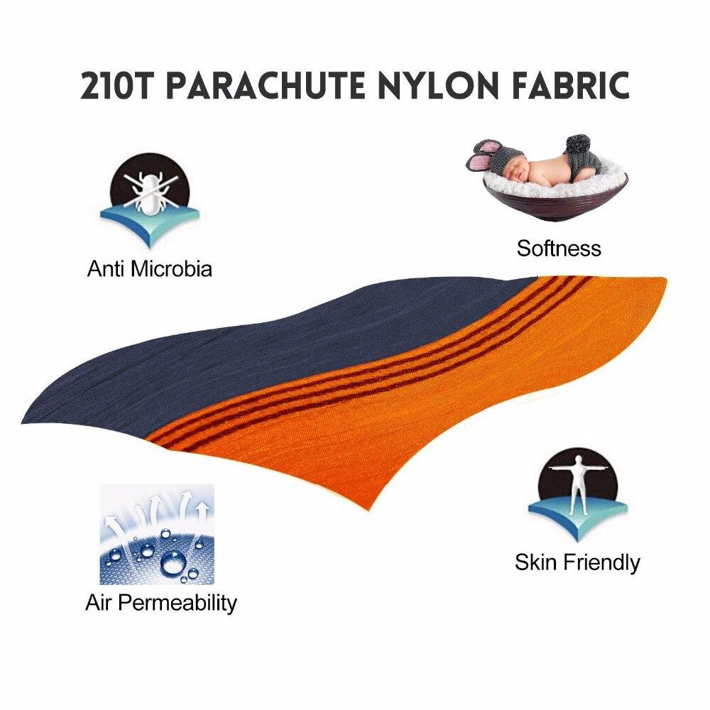 210T nailono parašiutas su lengvuoju 2 asmenų hamaku su hamako - Baldai - Nuotrauka 3