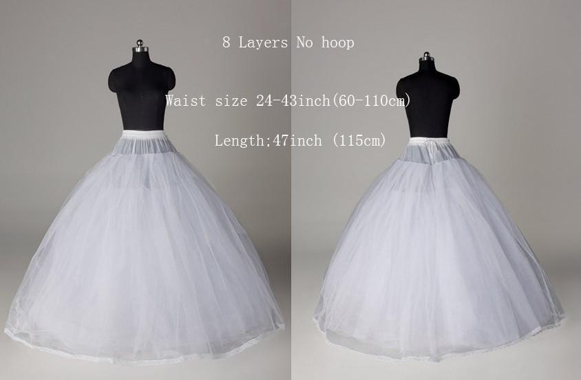 156cb75a3ee1e Ball Gown Style 8 Layer Tulle No Hoop White Petticoat Wedding Gown  Crinoline Petticoat Skirt Slip /3 HOOP Free Shipping-in Petticoats from  Weddings & Events ...