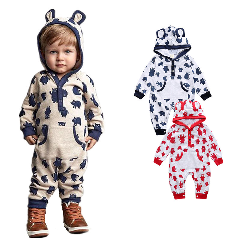New Brand Baby Cartoon Hoodies Rompers Infant Spring Autumn Jumpsuit Kids Overall Clothing Set for Boys Girls Toddlers Clothes велосипед stels navigator 380 2016