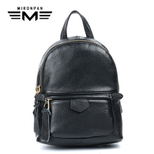 MIRONPAN 2018 Original Genuine Leather Womens Backpacks Female 20-35 Litre Zipper Soft Bag Cow Leathe Traveling Backpack