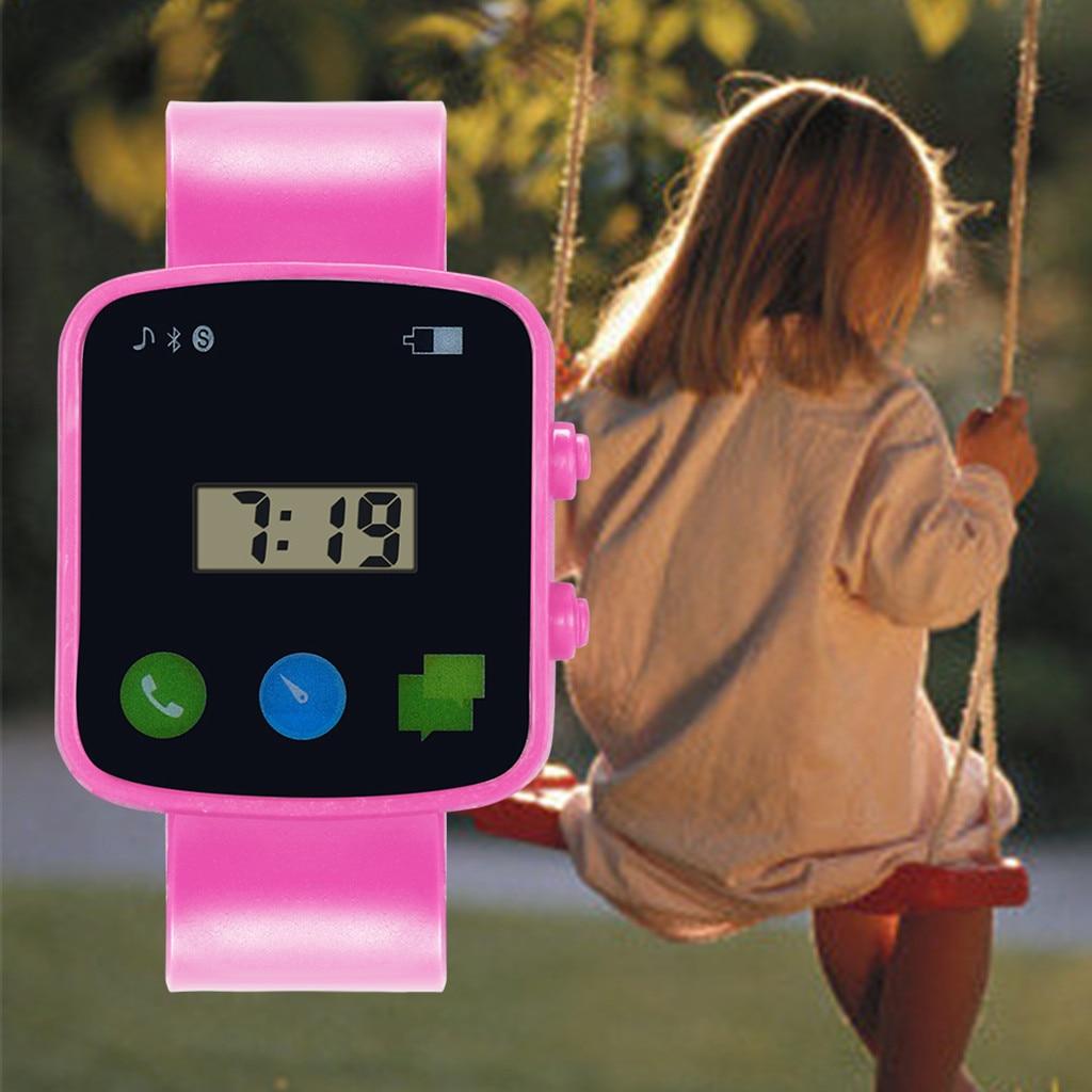 Digital-Watch Girls Children Electronic Waterproof Boys Fashion Square for Analog LED