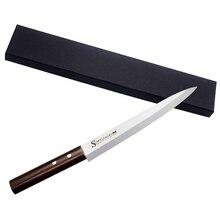 SOWELL Marke 8 Zoll Sashimi Messer High Grade 5cr15mov Edelstahl stahl Messer Monzo Griff Einer Schwarzen Geschenkbox Küchenmesser verkauf