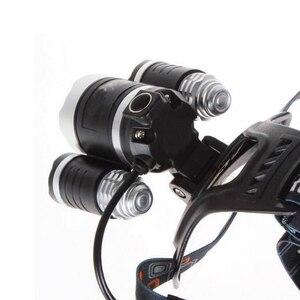 Image 5 - 3 Led scheinwerfer 8000LM XM L T6 UV Led scheinwerfer 395nm Uv Wiederaufladbare stirnlampe lampe frontale 18650 Ladegerät