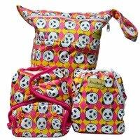 Grande Panda Purrrrfect ONE. Bambino di bambù Pannolini (One Size Pannolini di Stoffa + Swim Pannolino + Sacchetto Bagnato)