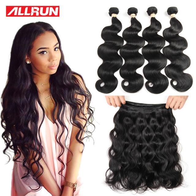 Ofertas de malasia Onda Del Cuerpo 4 Bundles Malaysian Virgin Hair Bundles 7A Extensión Del Pelo Malasio Sin Procesar Extensiones de Cabello Humano