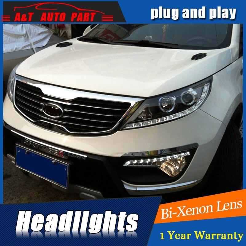Auto Part Styling For Kia Sportage R headlights 2011-2012 For Kia Sportage R bi xenon lens h7 xenon внешние аксессуары myhung kia sportage 2010 2011 r abs 4