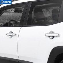 MOPAI ABS Auto Außentür Griff Abdeckung Dekoration Aufkleber Zubehör Für Jeep Renegade 2015 2017 Auto Styling