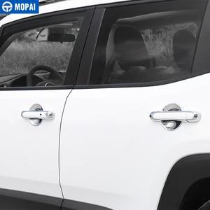 Image 1 - MOPAI ABS سيارة الخارجي الباب غطاء مقبض أعواد تزيين اكسسوارات ل Jeep Renegade 2015 2017 سيارة التصميم