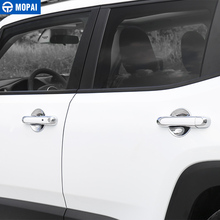 MOPAI manija de puerta Exterior de ABS para coche, pegatinas de decoración, accesorios para Jeep Renegade 2013 2019
