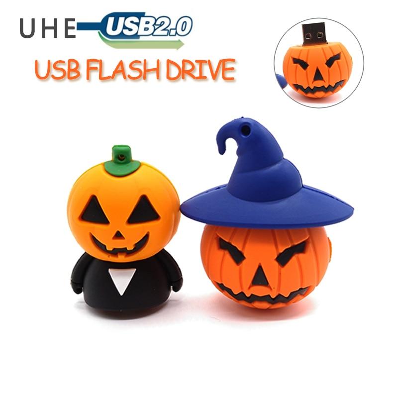 USB stick cartoon Pumpkin monster usb flash drive 4GB 8GB 16GB 32GB 64GB pendrive memory stick Halloween gift pen drive cle usb