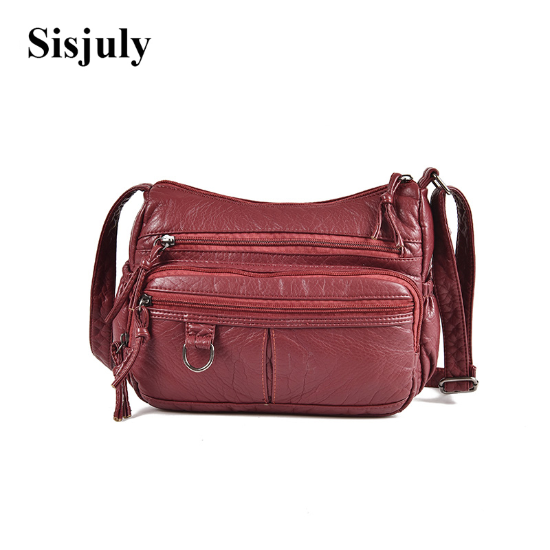 Sisjuly Soft Small Leather Women Bag Female Shoulder Bags Portable Crossbody Bag For Women Messenger Bag Ladies Handbag 2018 SAC sisjuly black 11