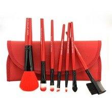 7pcs/SET Makeup Brushes Set Powder Foundation Eyeshadow Eyeliner Lip Brush Tool