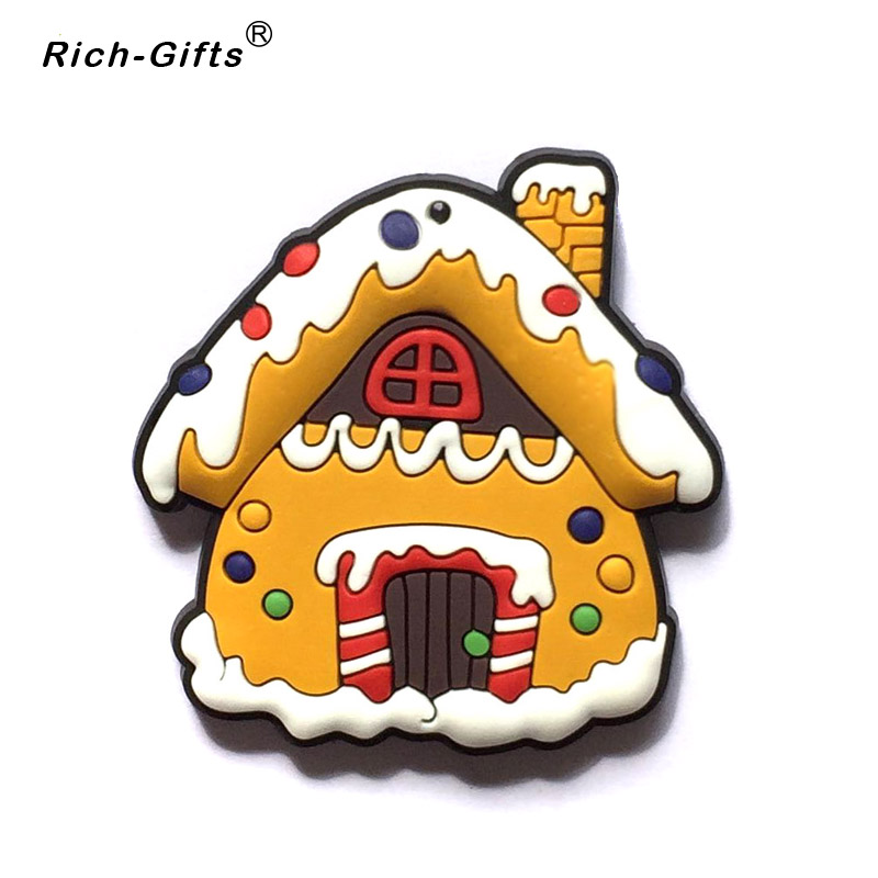 Customized promotional gifts christmas santa pvc soft robber fridge magnets magnetic sticker refrigerator magnet souvenirs in fridge magnets from home