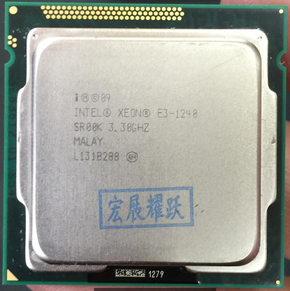 Processeur intel xeon E3-1240 E3 1240 Quad-Core Processeur LGA1155 ordinateur pc De Bureau CPU