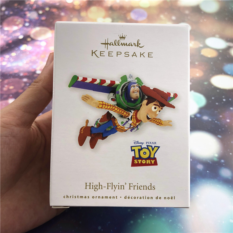 1piece Original Toy Story Woody and buzz lightyear high-flyin' friends Action Figure christmas tree ornament toys free shipping toy story 3 buzz lightyear woody sound toys pvc action figures model toys dolls 3pcs set christmas gifts dsfg092