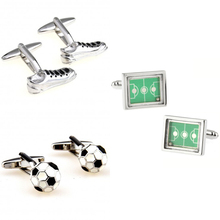 Trendy Football Shoes Ball Field Cufflink Cuff Link Free Shipping