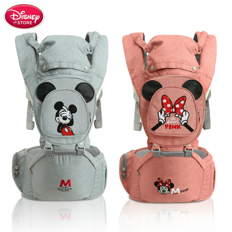 Disney Baby Backpack Carrier Breathable Front Facing Baby Carrier Hipseat Infant Comfortable Sling Backpack Pouch Wrap Carriers