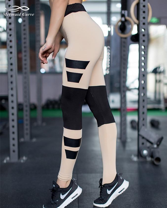 Mermaid Curve Sport Legging Women Fitness Running Workout