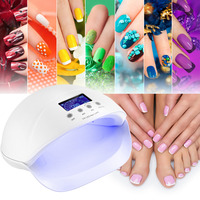 genuine nail dryer 50W UV LED nail lamp manicure dryers detachable bottom with 3 timer setting for nail curing gel nail polish