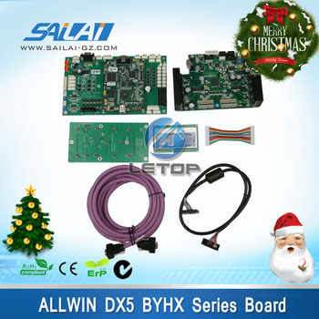 Allwin solvent printer byhx board DX5 double head main board pci cable connector cable lcd board