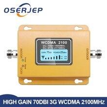 70db 3グラム2100リピータ携帯電話の信号2100リピータモバイル2100 900mhzの信号ブースターアンプ液晶ミニ3 4g lte wcdma umts