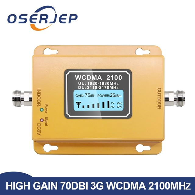 70db 3G 2100 Repeater Mobiele Telefoon Signaal 2100 Mhz Repeater Mobiele 2100 Mhz Signaal Booster Versterker Lcd Mini 3G Lte Wcdma Umts