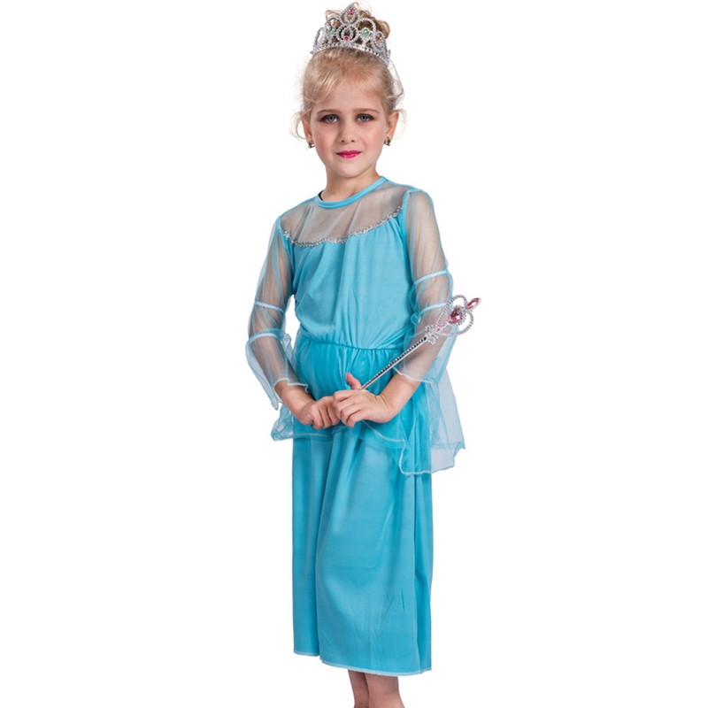 Child Kids Girls Ice Blue Snow Queen