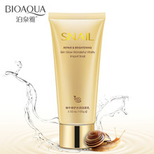 BIOAQUA Snail Essence Face Cleanser Deep Cleaning Pores Brighten Skin Replenish Water And Oil Control Foaming Facial