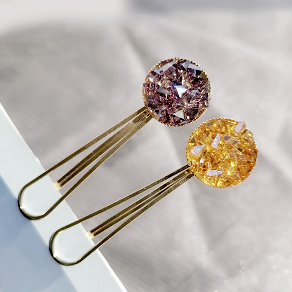 1Pcs Bling Crystal Hairpins Hair Clip Headwear for Women Girls Rhinestone Pins Barrette Styling Tools Accessories 6 Colors in Hair Jewelry from Jewelry Accessories
