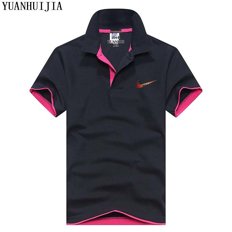 2019 Hot Sale Men's   Polo   Shirt High Quality Cotton Short Sleeve Summer Breathable Solid Male   Polo   Shirt Tee Tops