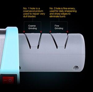 Image 5 - Cuchillo de estilo XYj afilador eléctrico de diamante y cerámica, afilador de cuchillos de cocina, amoladora de 2 etapas, afilador de cerámica con enchufe europeo