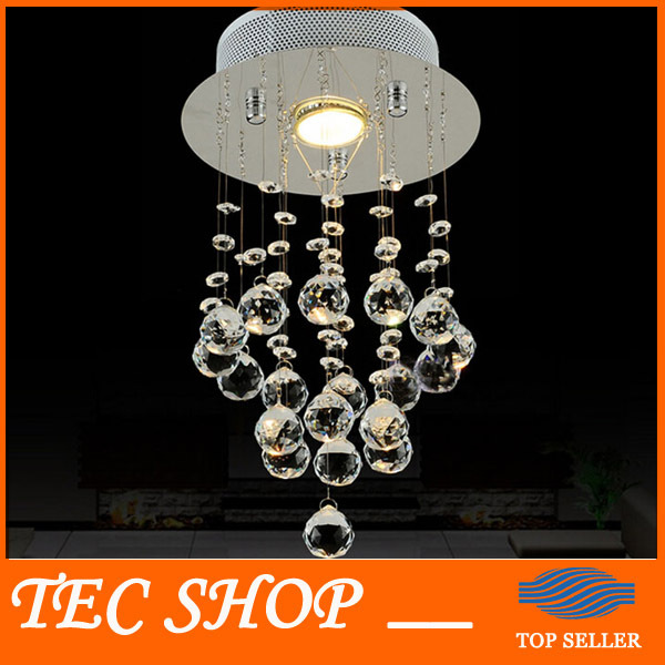 Best Price Modern Simple Crystal Chandelier Corridor Aisle Balcony Crystal Lamp Home Lighting Diameter 20cm x Height38cm gold color simple brief 5w crystal chandelier led lamp for home aisle meeting room bar cloth shops 5w chandelier 6000k 2800k