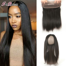 Brazilian Virgin Hair Straight 360 Lace Frontal Closure With Adjustable Straps Lace Frontals With Baby Hair Lace Frontal 360