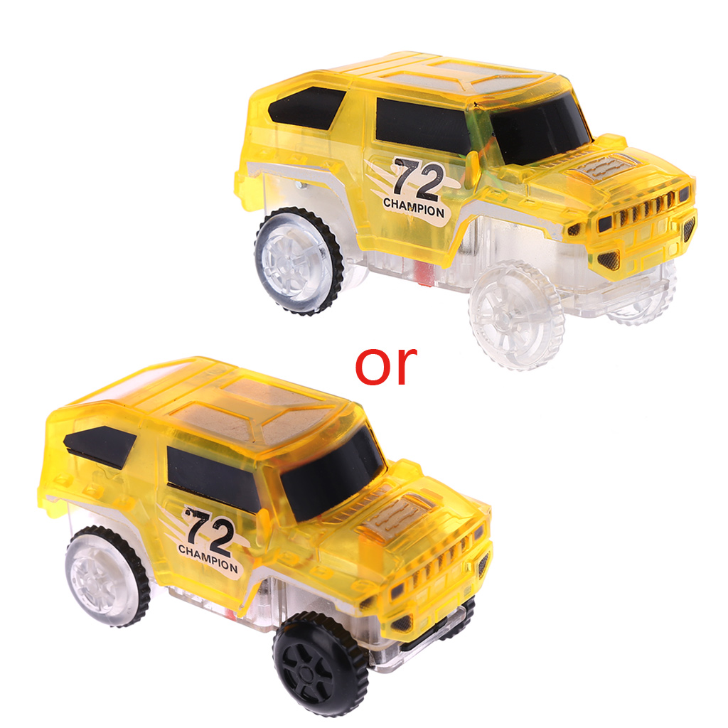 LED Light Up Car For Magic Track Electronic Cars Toy With Flashing Light Gift