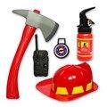 Nuevo 5 unids/set bombero juguete simulación fire rescue bombero conjunto de juguete extintor casco de juguete