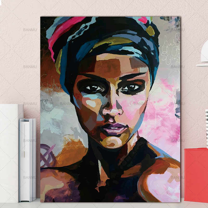 Abstract  women portrait posters and prints canvas painting figure Picture wall art  Picture home decor for living room bedroom