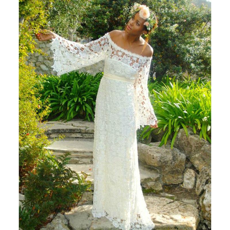 Popular hippie style wedding dresses buy cheap hippie for Bohemian wedding dress for sale