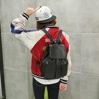 Split Leather Cute Backpack Small Backpack Women Solid Black School Bags for Teenage Girls