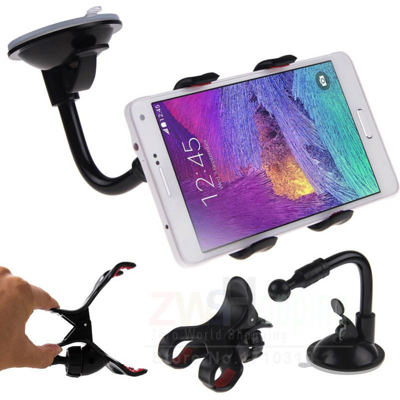 Universal 360 Degrees Rotation Plastic Suction Cup Car Adjustable Mount Holder Desktop Stand for iPhone 6 6s 7 Plus GPS MP4 360 degrees