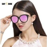 2017 Vintage Spolaryzowane Okulary Kobiety Soczewka Płaska Kociego oka Ramki Okularów Kobiet Ponadgabarytowych Fajne Lustrzane Okulary Przeciwsłoneczne