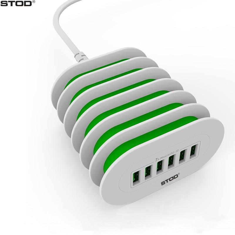 STOD Multi Port USB Charger 6 Port Phone Holder Stand För iPhone 5 - Reservdelar och tillbehör för mobiltelefoner