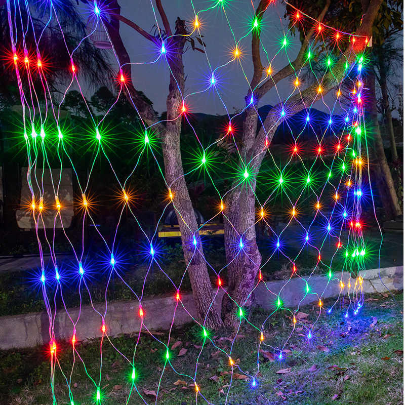 1.5/3M Led Net Mesh Holiday String Light Christmas Fairy String Light Home Garden Outdoor Wall Background Decorate