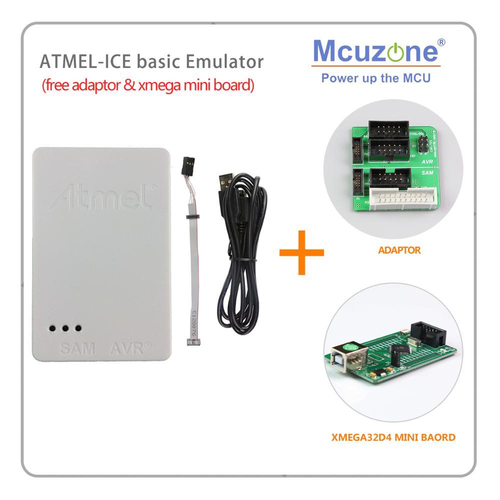 USB ATMEL ICE Basic Emulator Free ATXMEGA32D4 Mini Board(1pcs Per Order) 1.27 To 2.54 Adaptor 10pin