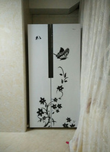 High Quality Creative Refrigerator Black Sticker Butterfly Pattern