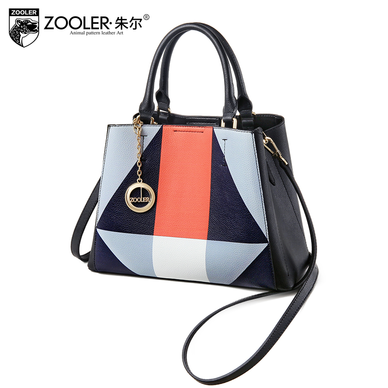 New & luxury ZOOLER NEW genuine leather shoulder bag handbags woman famous brand bolsa feminina luxury woman bags#y115 new zooler woman leather bags stars pattern luxury handbags bags woman famous brand designer shoulder bag bolsa feminina p113