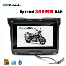 Envío libre 5 Pulgadas 256 MB RAM 8 GB HD 800×480 Impermeable de La Motocicleta GPS + Bluetooth + 8 GB de Memoria Interna + FM + Mapas Gratis
