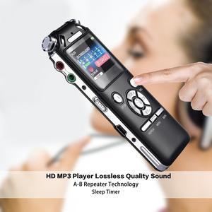Image 3 - Dyktafon cyfrowy podwójne mikrofony inteligentna redukcja szumów rejestrator dźwięku USB akumulator 8GB pamięci Mp3 WMV