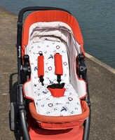 Almofada de assento de carro do bebê colchão carrinho de bebê crianças assento proteção acessório forro 5 pontos harness pushchair esteira suporte almofada