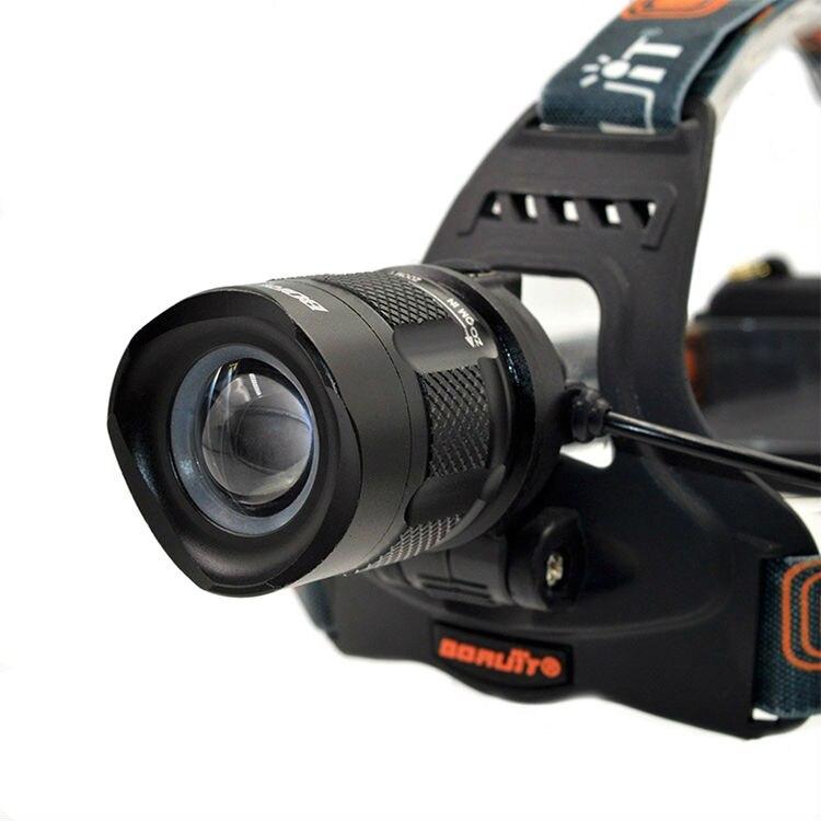 Boruit RJ-2157 headlamp headlight led flashlight head (5)