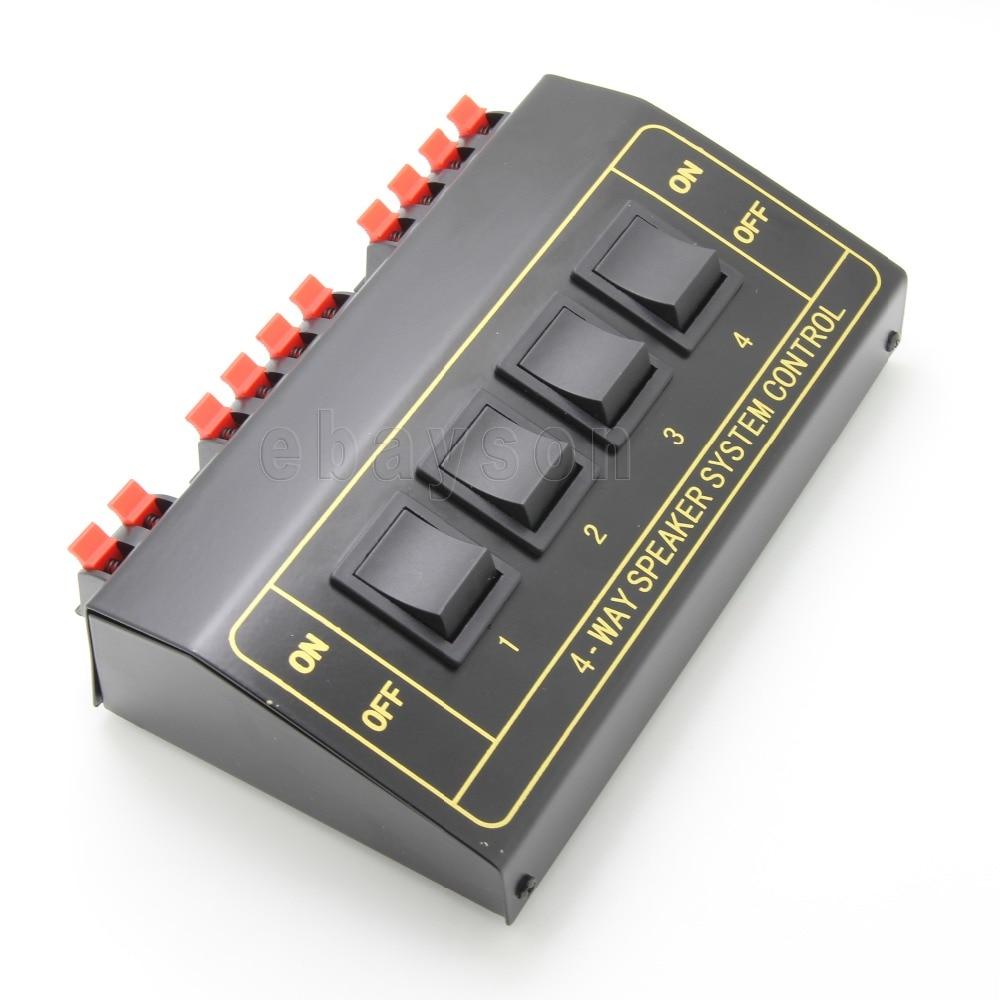 NOVO 4 Speaker Selector Switcher Splitter 200 Watt